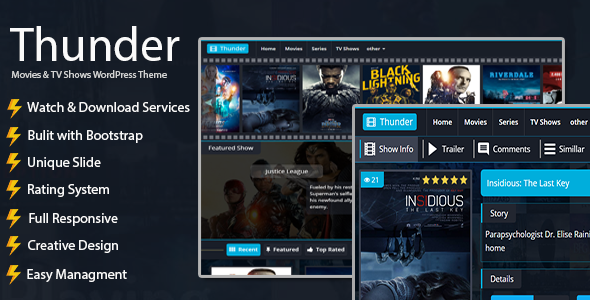 Thunder | Movies WordPress Theme