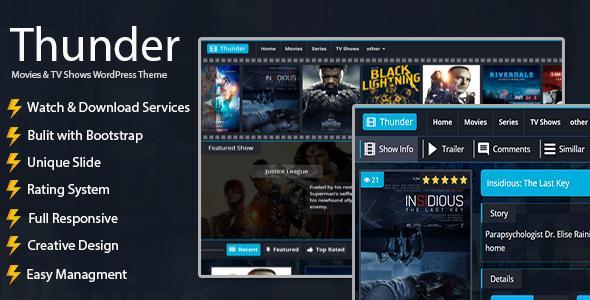 Thunder | Movies WordPress Theme